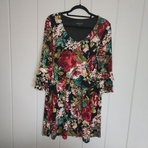 Connected Apparel Womens Party Floral Bell sleeve